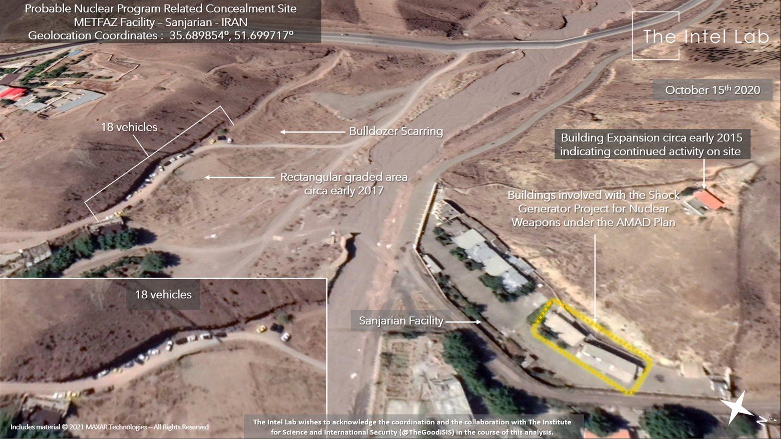 الأقمار الصناعية تكشف أنشطة مريبة في موقع نووي إيراني
