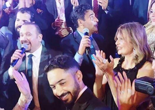 بالصور .. نجوم الفن خربوها رقص وفرفشة في فرح أخو حميد الشاعري - إتفرج