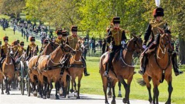 صورة انطلاق مراسم جنازة الأمير فيليب