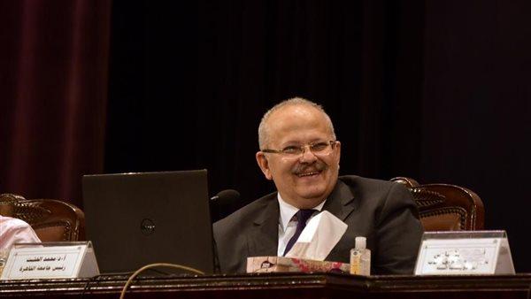 """صورة """"الخشت"""" يكشف عن موعد امتحانات نهاية العام و تصنيف جامعة القاهرة عالميا"""