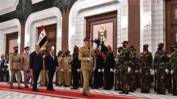 """""""في 22 صورة"""" لأول مرة بعد 30 عاما.. استقبال تاريخي للرئيس السيسي في العراق"""