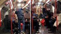 صورة سفاح يهاجم امرأة داخل المترو.. ورد فعل مفاجئ من الركاب|فيديو