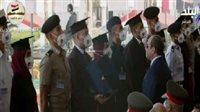 صورة السيسي يتسلم درع الجامعات المصرية في حفل تخريج دفعات الكليات العسكرية |فيديو